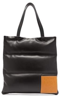 Loewe Anagram Quilted Leather Tote Bag - Mens - Black