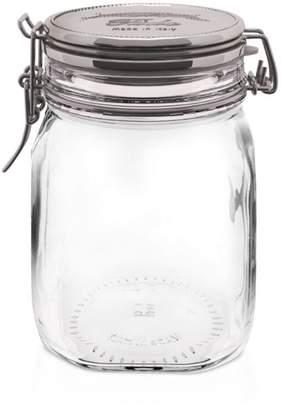 Bormioli Fido Square Copper Metallic Lid Jar, 33.75 oz.