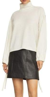 BCBGMAXAZRIA Bishop Sleeve Turtleneck Sweater
