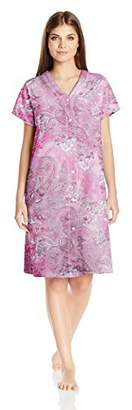 Miss Elaine Women's Interlock Knit Short Robe