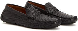 Aquatalia Brandon Embossed Waterproof Leather Driving Shoe