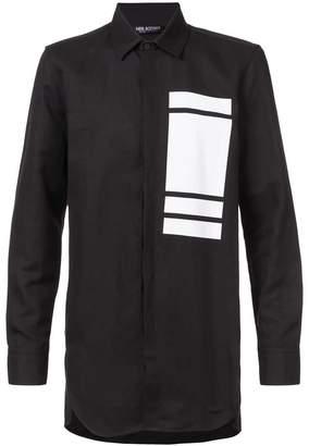 Neil Barrett block print shirt