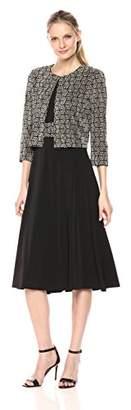 Jessica Howard Women's Printed Swing Jacket Dress
