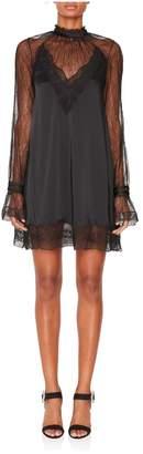 Jonathan Simkhai Sateen Longsleeve Mini Dress