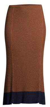 Eileen Fisher Ribbed Midi Skirt