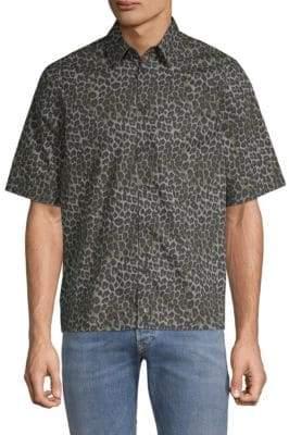 Diesel Raggaess Leopard Print Hawaiian Shirt