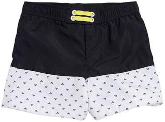 Armani Junior Logo Nylon Swim Shorts