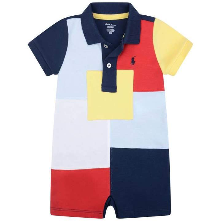 Ralph LaurenBaby Boys Multi-Coloured Patchwork Shortie