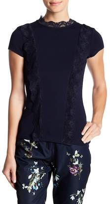 Ted Baker Tuloula Lace Mock Neck Top