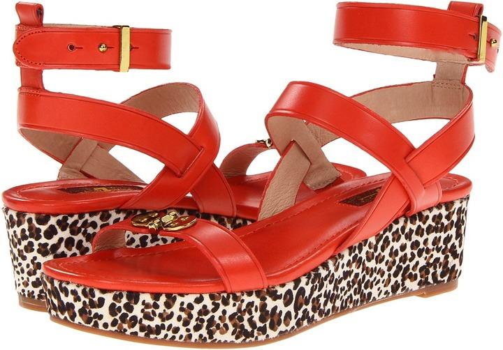 7 For All Mankind Adela (Orange) - Footwear