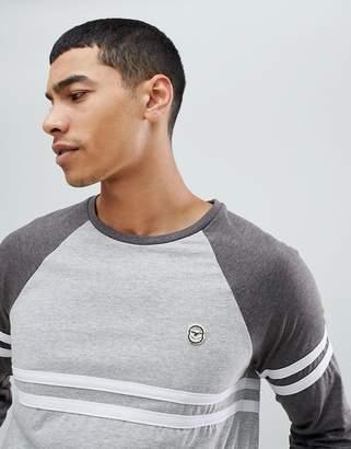 Le Breve Raglan Cut and Sew Long Sleeve Top