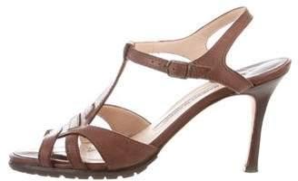 Marc Jacobs Leather T-Strap Sandals