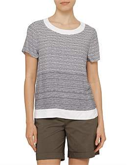 David Jones Stripe Woven Tee