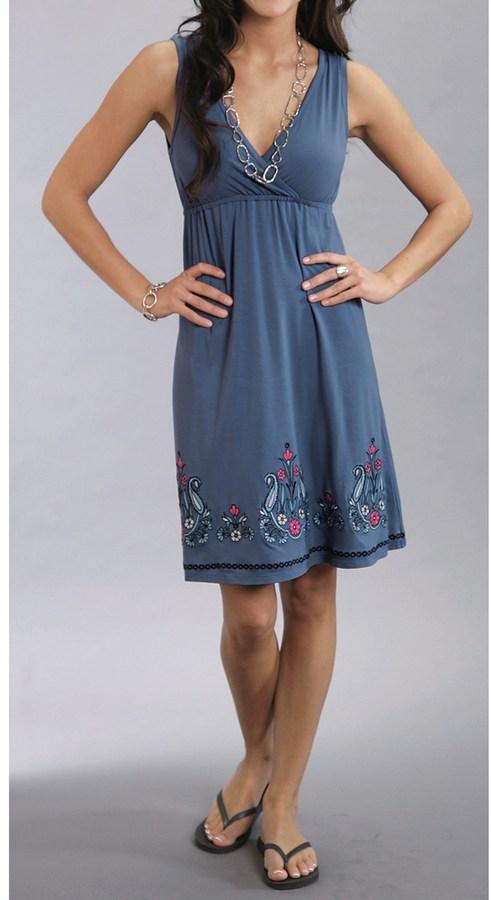 Stetson Embroidered Sun Dress - Sleeveless (For Women)