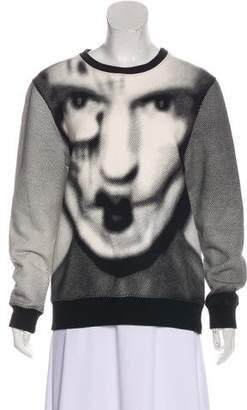 Gareth Pugh Jacquard Face Print Sweatshirt