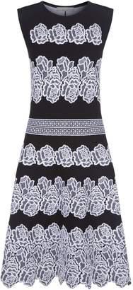 D-Exterior D.Exterior Knitted Floral A-Line Dress