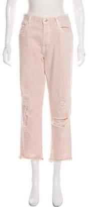 J Brand High-Rise Distressed Jeans
