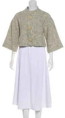 Chloé Wool Blend Long Sleeve Cardigan