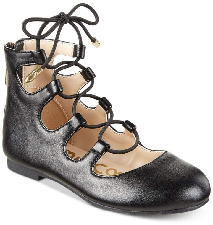 Sam Edelman Felicia Stella Lace-Up Flats, Little Girls (11-3) and Big Girls (3.5-7)