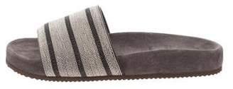 Brunello Cucinelli Monili Slide Sandals
