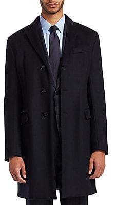 Emporio Armani Men's Wool Cashmere Top Coat