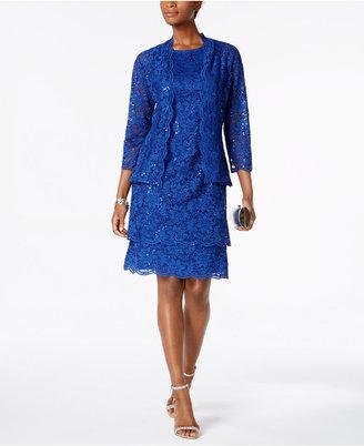 R & M Richards 2-Pc. Sequined Lace Jacket & Dress $129 thestylecure.com