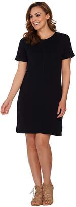 Isaac Mizrahi Live! SOHO Raglan Sleeve Knit T-shirt Dress