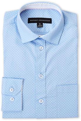 Report Collection Boys 8-20) Diamond Pattern Dress Shirt