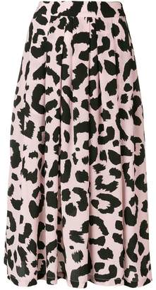 Être Cécile animal print skirt
