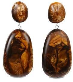 Dinosaur Designs River Rock Drop Brown Earrings