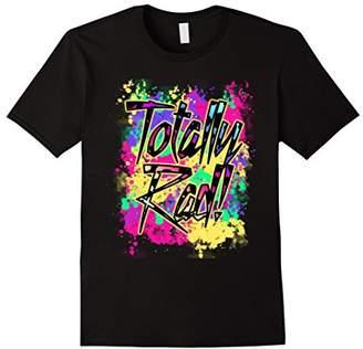 Totally Rad 80s Neon Paint Splash 1980s Party T-Shirt