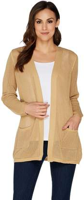 Belle By Kim Gravel Belle by Kim Gravel Mesh Knit Tunic Cardigan
