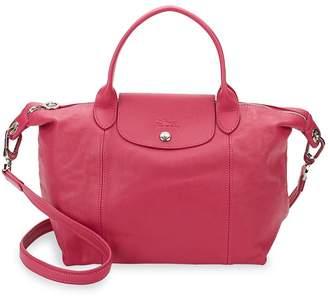 Longchamp Women's Le Pliage Cuir Leather Small Top Handle Bag