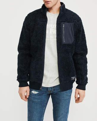 Abercrombie & Fitch Sherpa Full-Zip Jacket