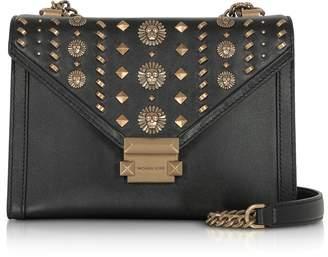 Michael Kors Whitney Large Embellished Convertible Leather Shoulder Bag