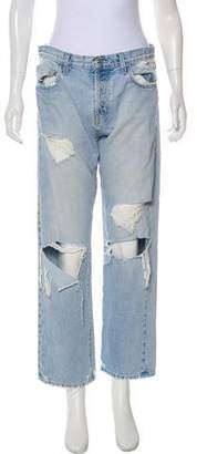 Current/Elliott Alta Destroy High-Rise Straight-Leg Jeans