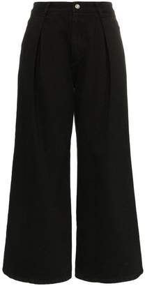 Sjyp high waisted wide leg jeans