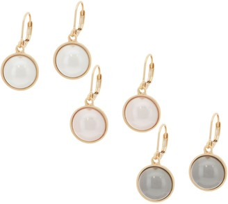 Joan Rivers Classics Collection Joan Rivers Set of 3 Clip or Pierced Simulated Pearl Earrings