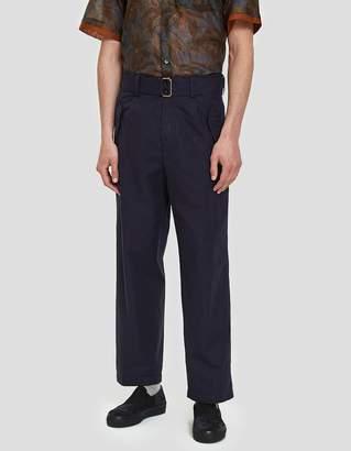 Dries Van Noten Twill Trouser in Multi