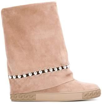 Casadei roll top boots
