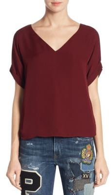 Polo Ralph Lauren Emerson V-Neck Top $165 thestylecure.com