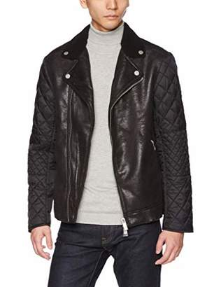 Armani Exchange A|X Men's Aysmetrical Leather Jacket