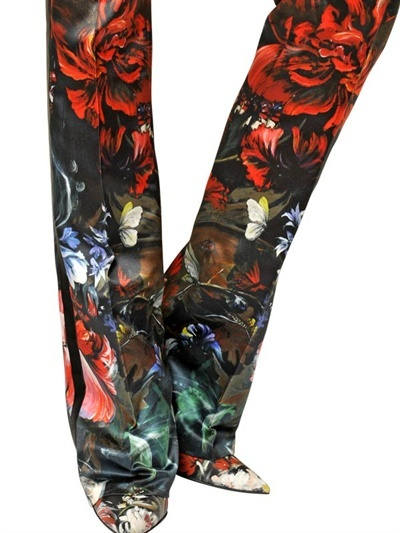 Roberto Cavalli Printed Double Silk Duchesse Trousers