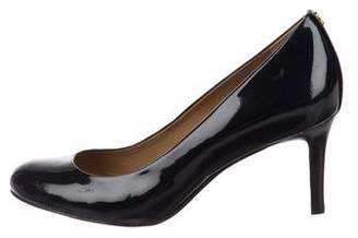 Tory Burch Patent Leather Round-Toe Pumps