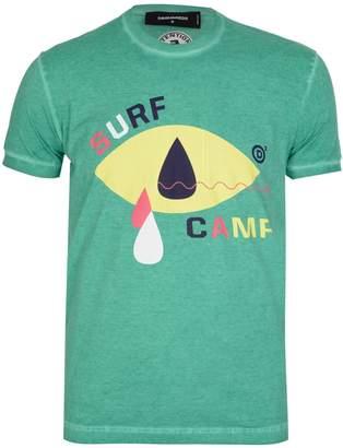 DSQUARED2 Dsquared Surf Print Tshirt Green
