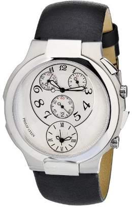 Philip Stein Teslar Women's 9-CRW3-CB Quartz Analog Dual Time Chronograph Watch