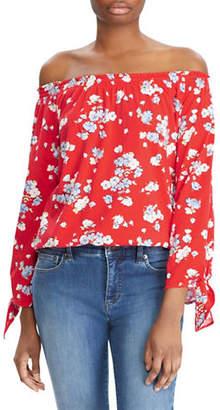 Lauren Ralph Lauren Petite Floral Jersey Off-the-Shoulder Top