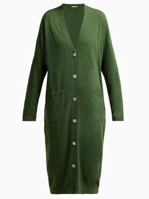 Queene And Belle - Kennedy Wool Cardigan - Womens - Dark Green