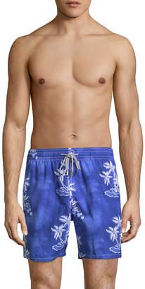 Vilebrequin Men's Printed Cotton Swim Trunks