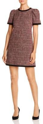 Kate Spade Puff-Sleeve Metallic Tweed Dress